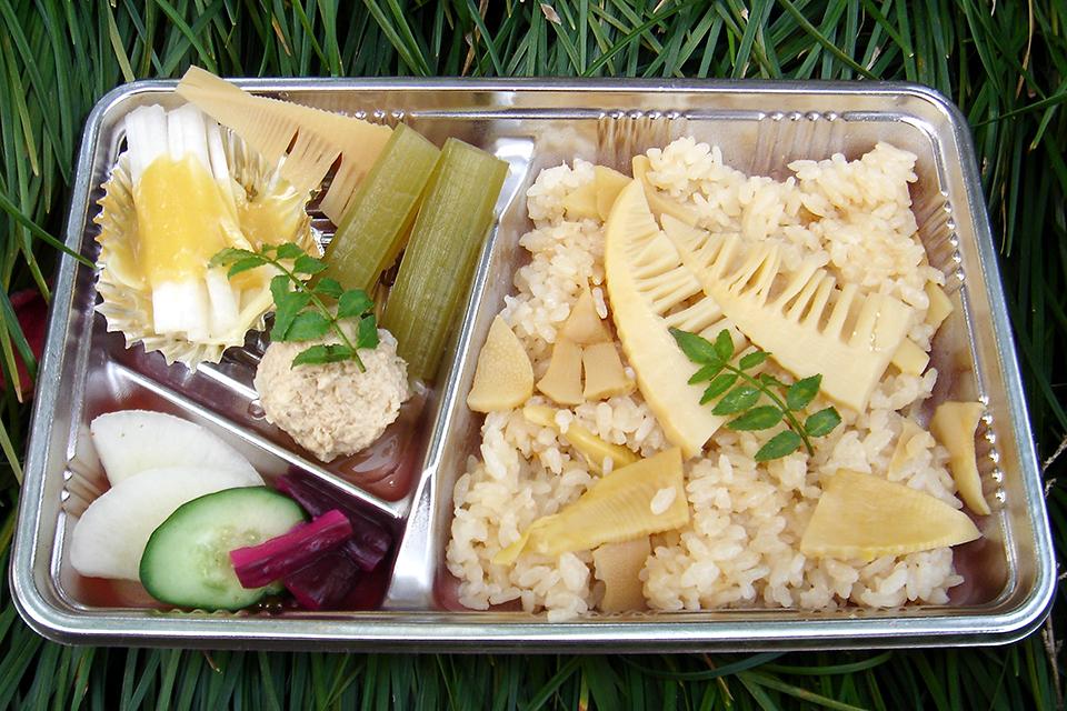 竹の子弁当